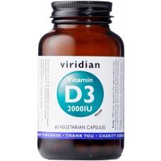 Vitamin D3 2000IU 60 kapsúl - Viridian